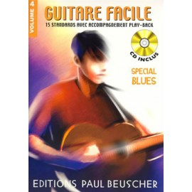 GUITARE FACILE VOLUME 4 SPECIAL BLUES (PACK PARTITION+CD)