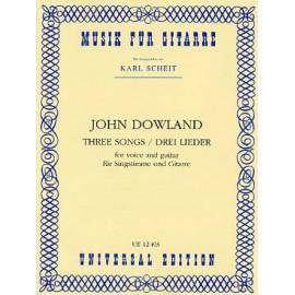 DOWLAND 3 SONGS UE12403