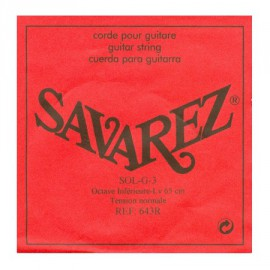SAVAREZ OCTAVE INFERIEURE 65CM CORDE 3 SOL LOW643R
