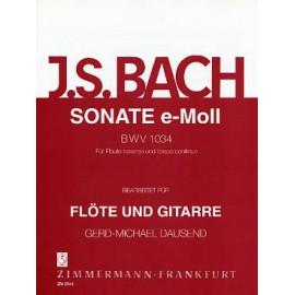 BACH SONATE EN MI MINEUR BWV1034 ZM29440