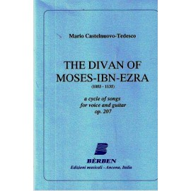 CASTELNUOVO TEDESCO THE DIVAN OF MOSES IBN EZRA OP207 BE1713