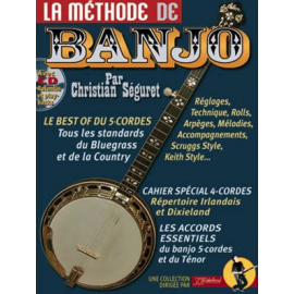 SEGURET METHODE DE BANJO (PACK PARTITION + CD)