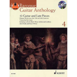 BAROQUE GUITAR ANTHOLOGY 4 + CD ED13489