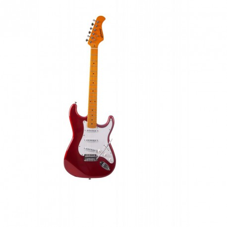 GUITARE ELECTRIQUE JM FOREST CANDY RED ST70 MA CAR
