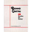 GNATTALI 10 ETUDES POUR GUITARE  ECH727
